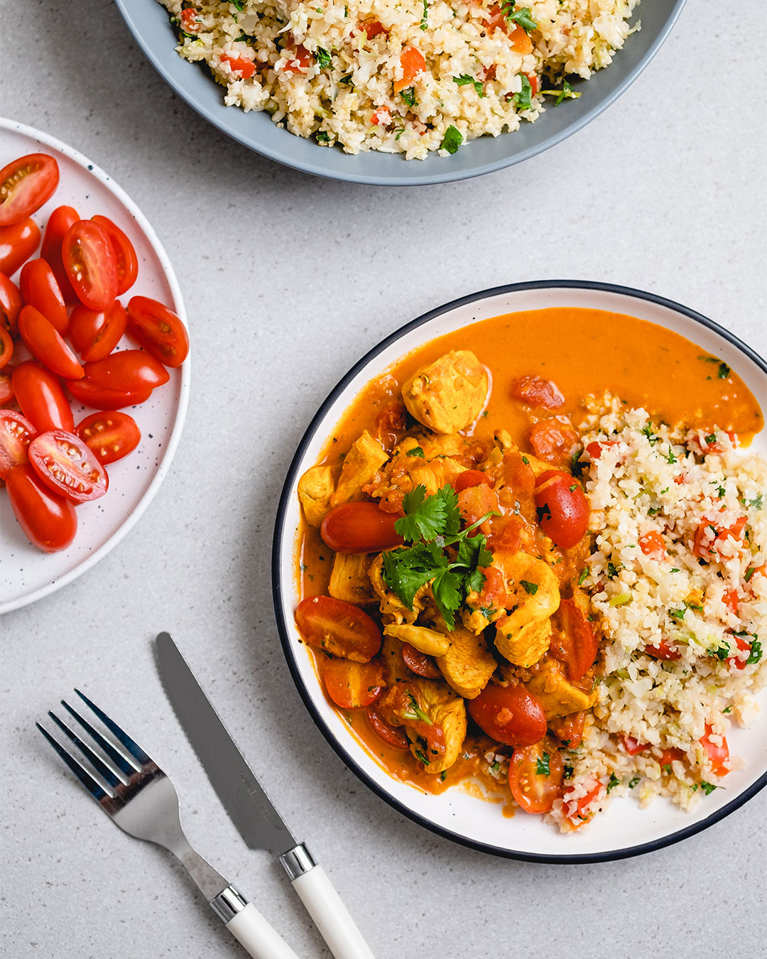 Easy chicken and coconut curry