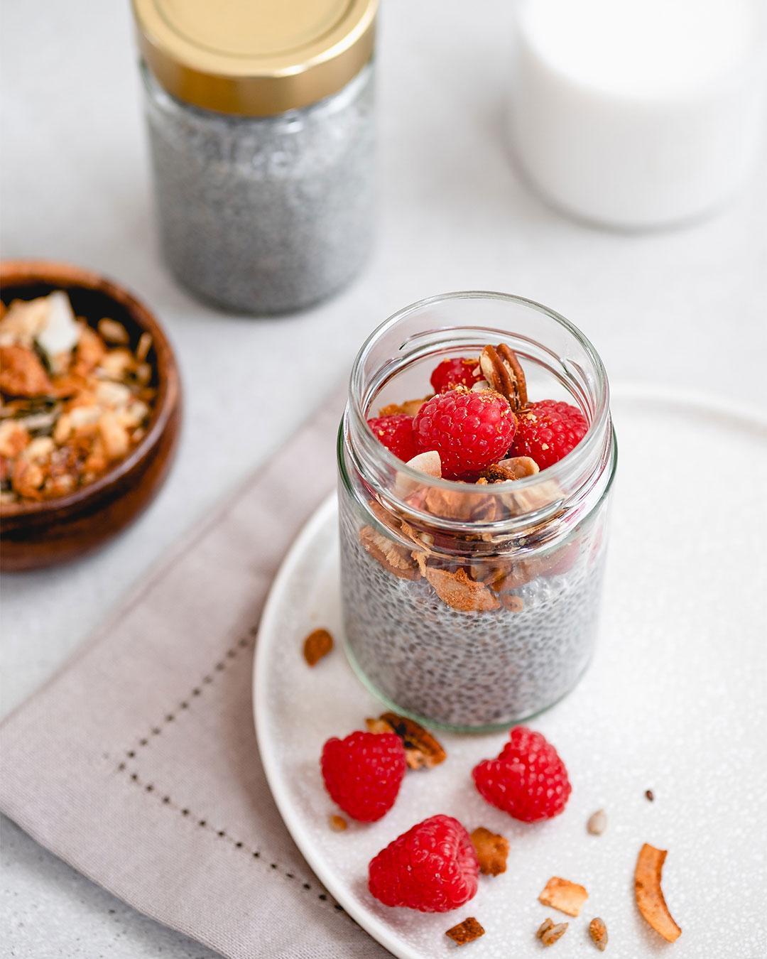Overnight chia seed porridge